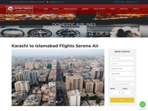 cheap deals and best agency-Fatima travels