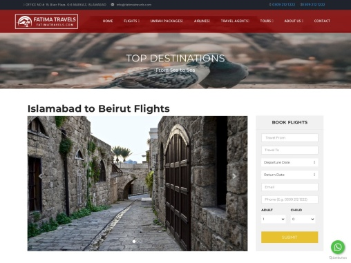 Book your Vacation Packages from Islamabad-Fatima travels