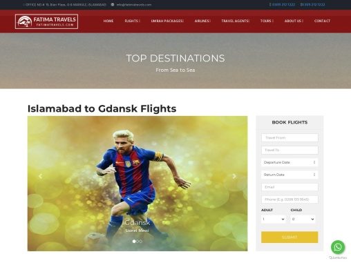 Find the best travel discounts and deals -Fatima travels