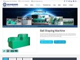 Organic fertilizer ball shaping machine – polishing machine