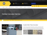 Double roller granulator – fertilizer pelelt machine