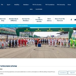 FIA Driver Categorisation | Federation Internationale de l'Automobile