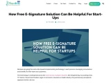 Free E-Signature Solution That Can Help Start Ups