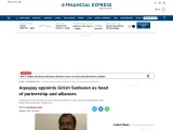 Aquapay appoints Girish Sankaran as head of partnership and alliances