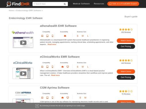 Top Endocrinology EHR/EMR Software Demos, User Reviews & Pricing   FindEMR