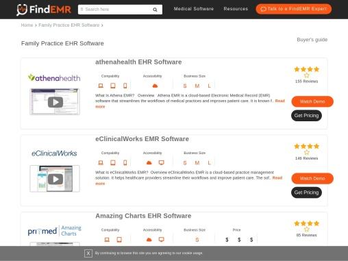 Top Family Practice EHR/EMR Software Demos, User Reviews & Pricing   FindEMR