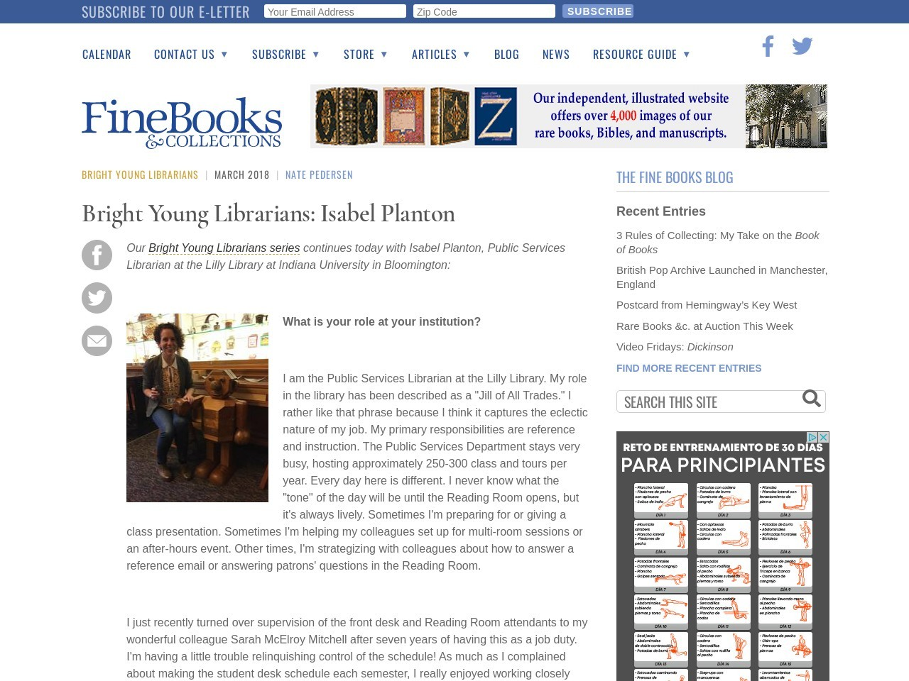 Bright Young Librarians: Isabel Planton