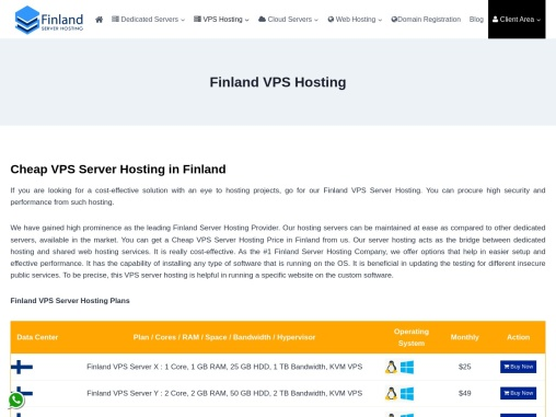 Grab Top Finland Server Hosting Services