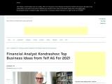 Financial Analyst Kondrashov: Top Business Ideas from Telf AG For 2021