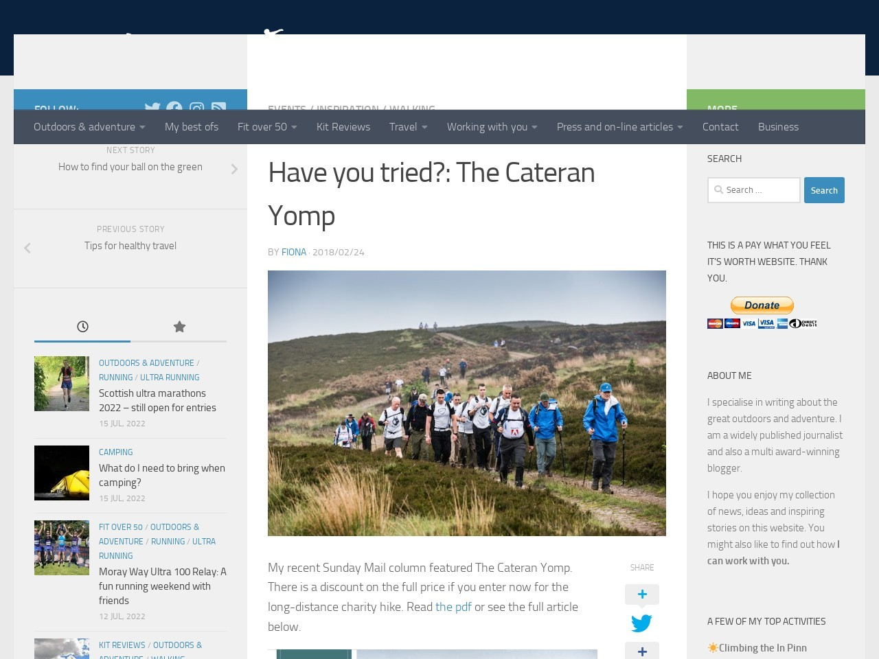 Have you tried?: The Cateran Yomp
