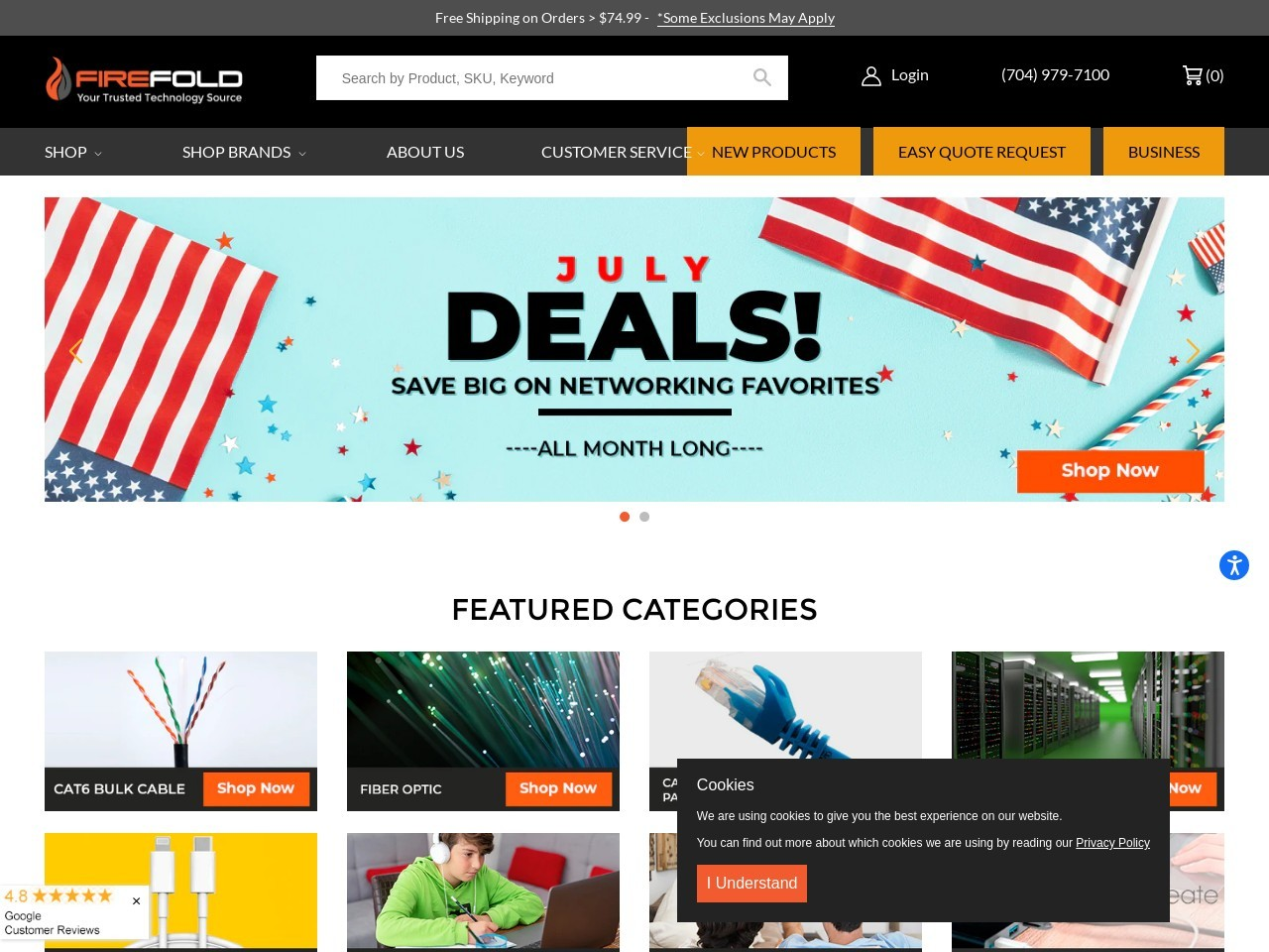 Firefold | Bulk Cables | Ethernet Cables