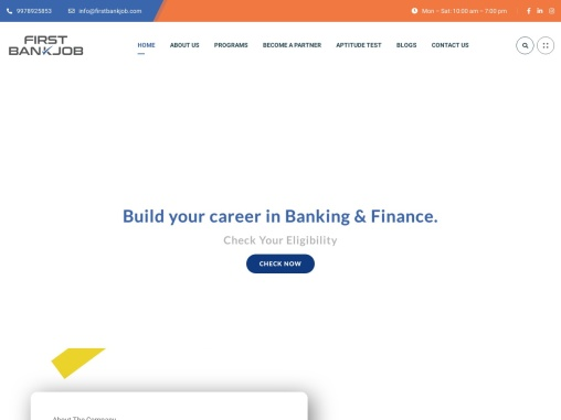 best bank training center in Vadodara and Indore – firstbankjob