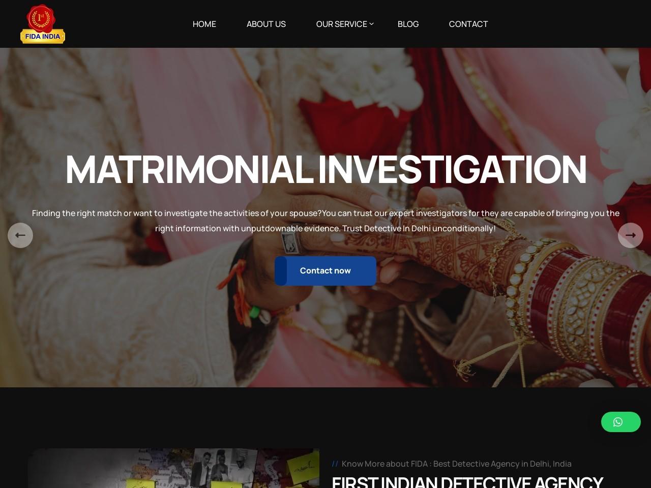 Top Secret Post Matrimonial Detective Agency – FIDA