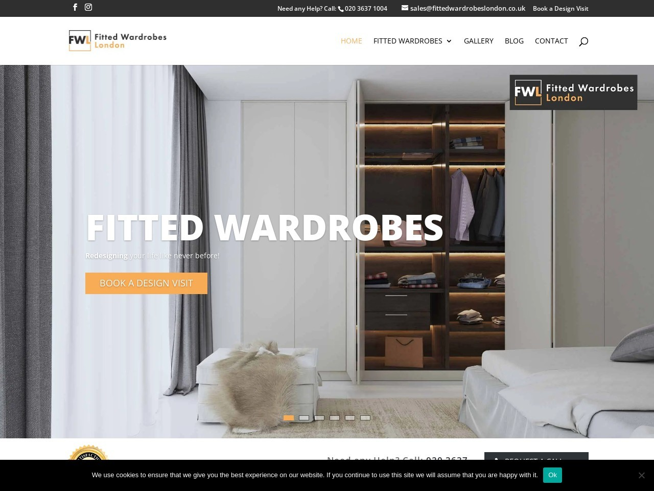 White Wooden Fitted Wardrobes Designs By FittedwardrobesLondon