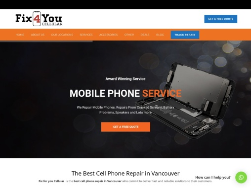 Fix4you Cellular: Best cellphone repair shop in vancouver, canada