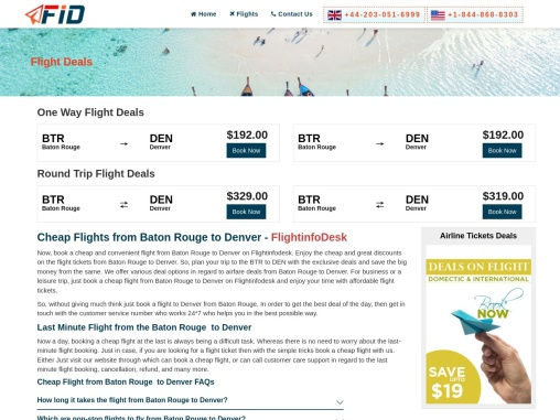 Cheap Flights from Baton Rouge to Denver +1-844-868-8303