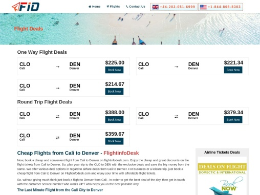 Cheap Flights from Cali to Denver from $59