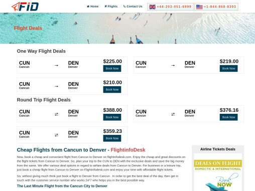 Cheap Flights from Cancun to Denver from $59