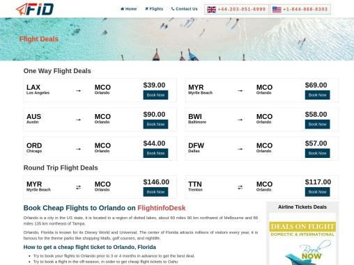 Cheap Flights to Orlando From $11