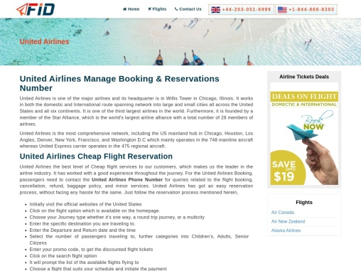 United Airlines Manage Booking +1-844-868-8303