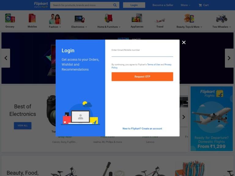Flipkart screenshot