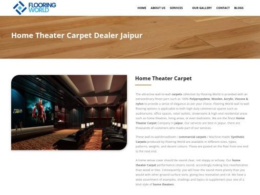 Home Theatre Carpet Dealer in Jaipur | Flooring World