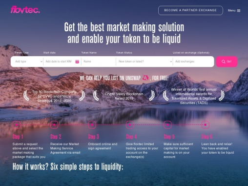 A pioneering Market Making Solution that ensures liquidity for tokens