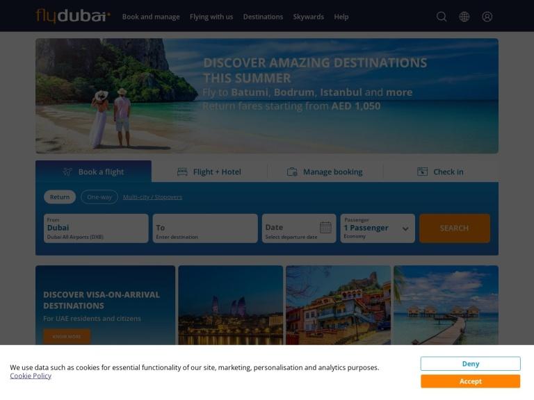 FlyDubai Coupons screenshot