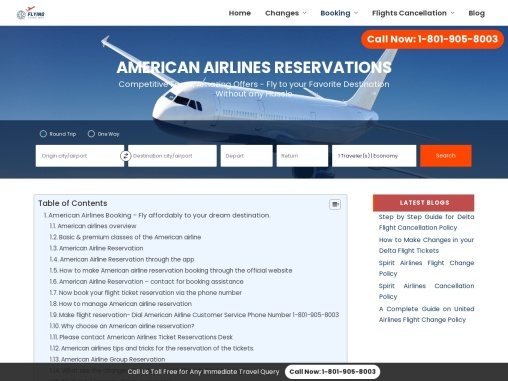 American Airlines Reservations +1-800-548-3192 | Manage flights Booking