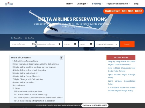 Delta Airlines Reservations +1-800-548-3192 | Manage flights Booking