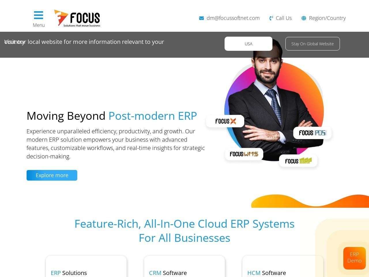 Best ERP Software Solutions Dubai, UAE – Focus Softnet UAE