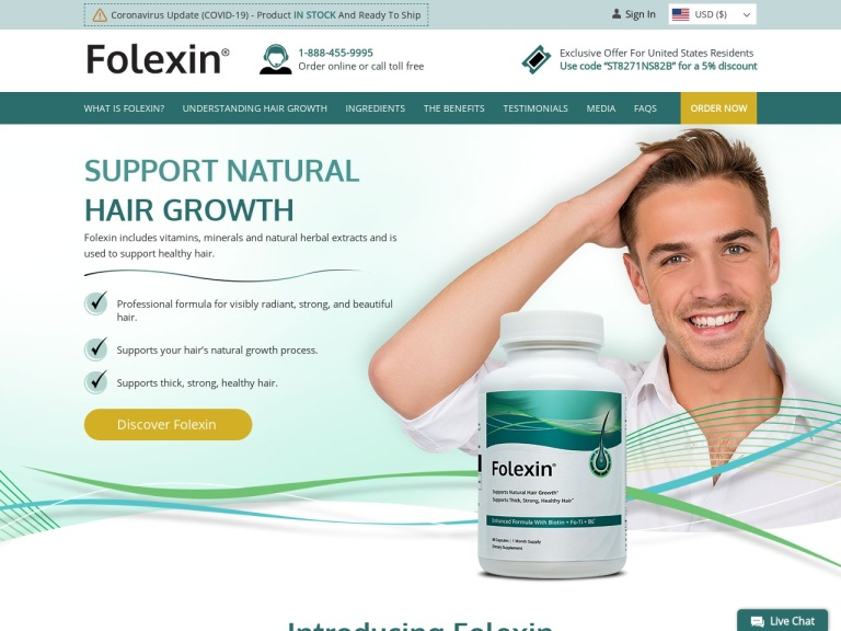 Folexin Coupon screenshot