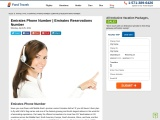 Call Emirates Phone Number for instant flight reservations