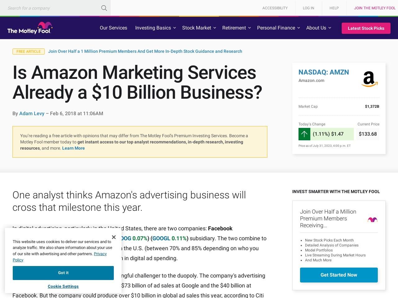 Is Amazon Marketing Services Already a $10 Billion Business?