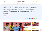 Young Players Love to Go to Dortmund, Says CIES report