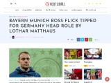 Hansi Flick Set To Become Next Germany Manager Says Lothar Matthaus