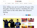 Conte And His Inter Milan Set to Win The League After 10 Years