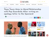 Yaya Toure Sends Pep Guardiola Apology Letter In A Bid To Patch Things