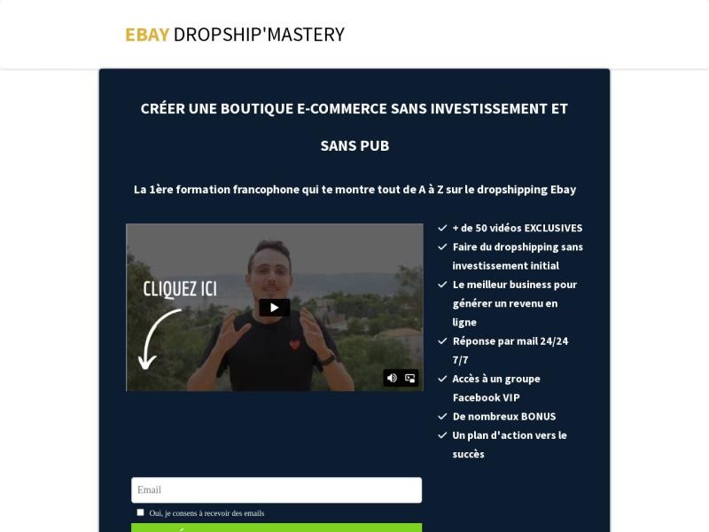 ebay dropship mastery - boutique e-commerce