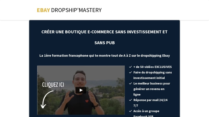 formation complete - dropshipping sur ebay