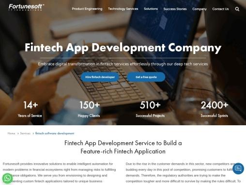 Fintech Development Company   Fintech Software Develop Services