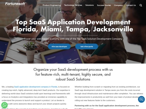 SaaS Application Development Services in Miami   Tampa