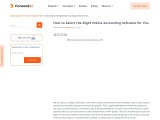 How to Select the Right Online Accounting Software for You