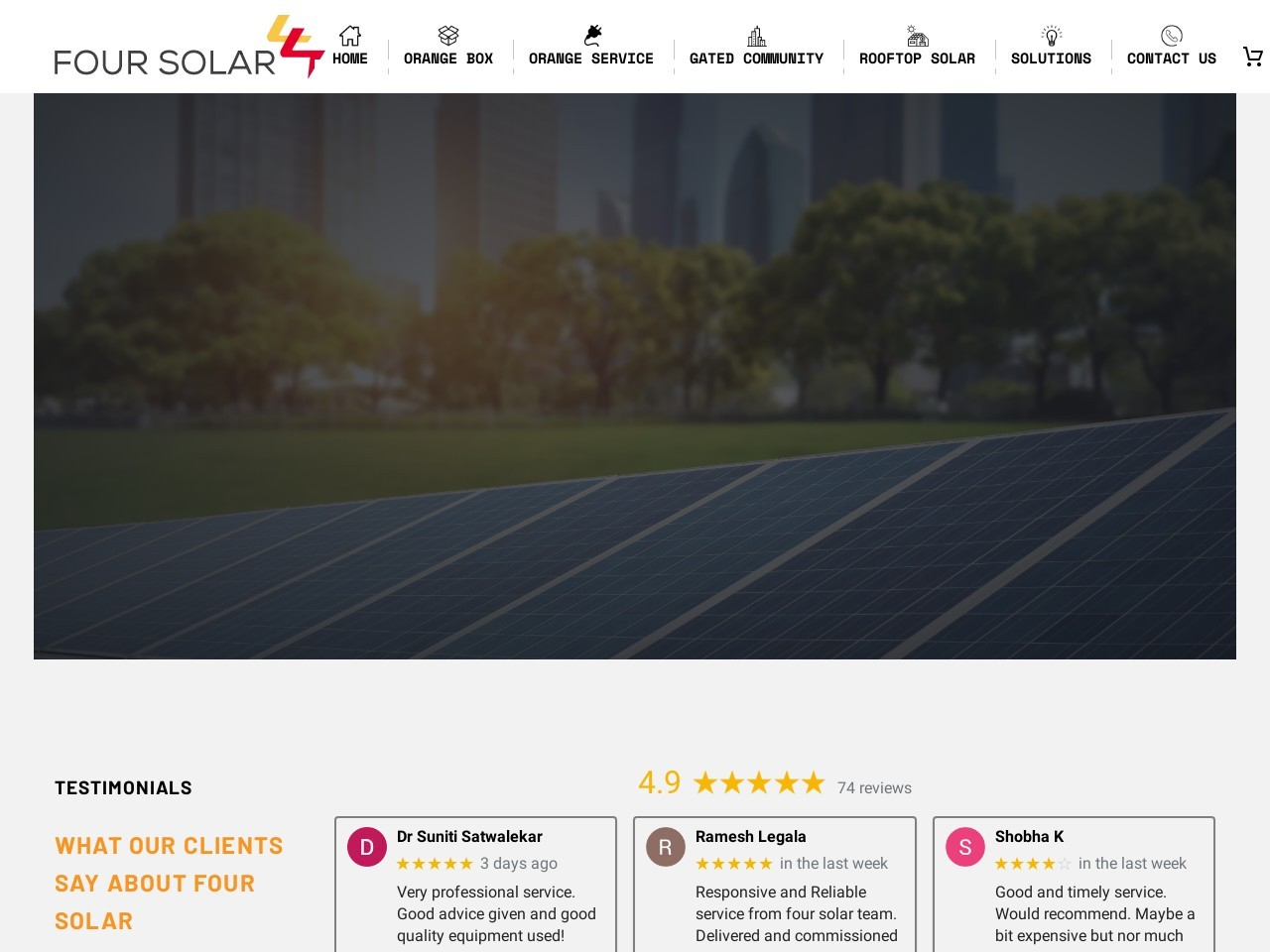 Four Solar | Request A Site Visit | Solar Company In Hyderabad