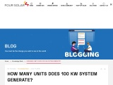 Four Solar | How many units does 100 KW system generate?