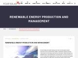 Renewable Energy Production and Management | Four Solar