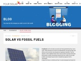 Solar Energy vs Fossil Fuels | Four Solar | Is solar better than fossil fuels