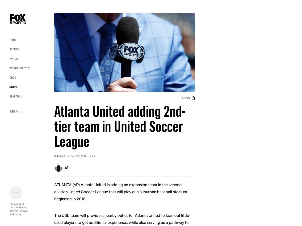 Atlanta United adding 2nd-tier team in United Soccer League