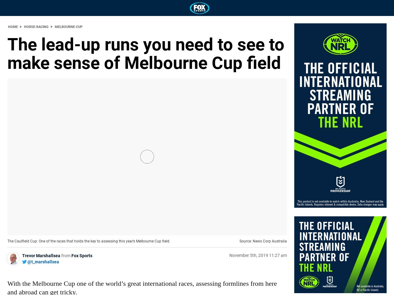 The lead-up runs you need to see to make sense of Melbourne Cup field