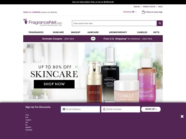 Fragancenet.com screenshot